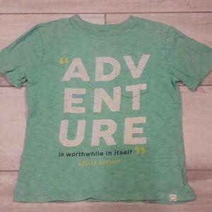 "Amelia Earhart ""Adventure"" quote t-shirt"
